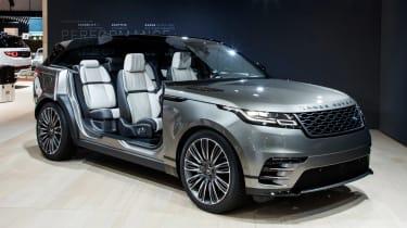 Range Rover Velar show - front doors open