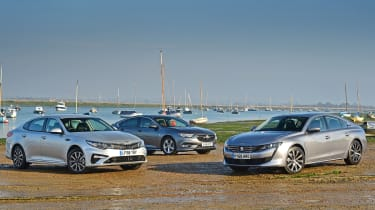 Peugeot 508 Fastback vs Kia Optima vs Vauxhall Insignia Grand Sport - Header