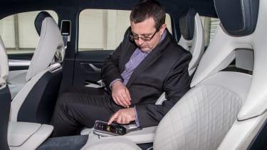 Skoda VisionS concept - John McIlroy rear seats detail