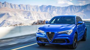 Alfa Romeo Stelvio Quadrifoglio  - blue