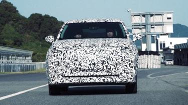 Lexus EV SUV - spied front