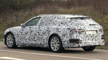 Audi A6 Avant spies side rear