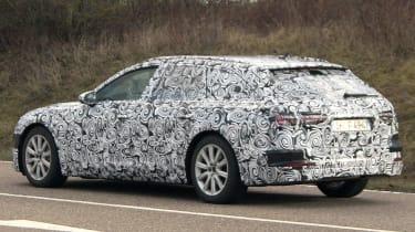 Audi A6 Avant spies side rear