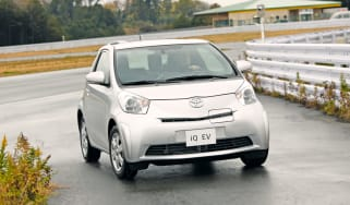 Toyota iQ EV front cornering