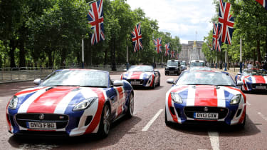 British cars on The Mall