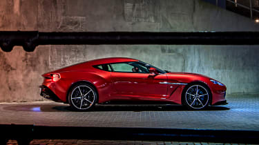 Aston Martin Vanquish Zagato - side static night