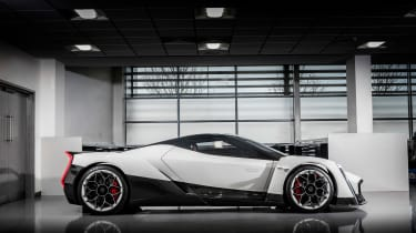 Vanda Dendrobium electric hypercar - side