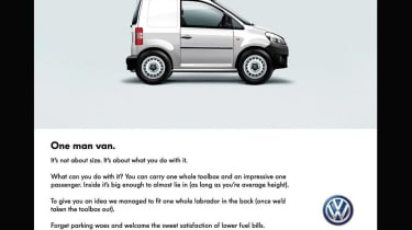 VW proposed the Caddy Maxi Mini, a 2.4m long micro van with one seat and only enough room for a tool box or the driver's lunch. Basically, you could take more with you if you got the bus.