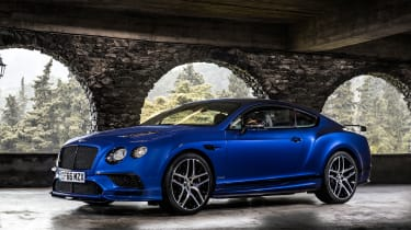 Bentley Continental Supersports 2017 - Moroccan Blue front quarter