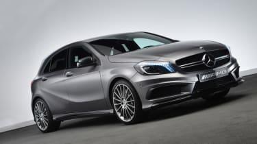 Mercedes A45 AMG front three-quarters