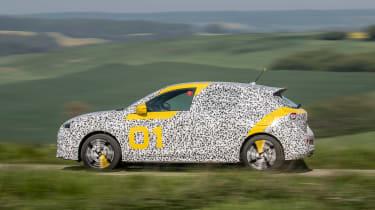 Vauxhall Corsa prototype - side action