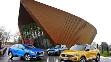 Volkswagen T-Roc vs Audi Q2 vs MINI Countryman - head-to-head