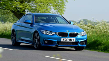 BMW 420d M Sport - front tracking