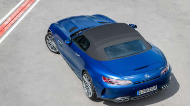 Mercedes-AMG GT C - above roof closed