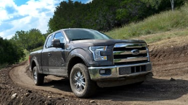 Ford F-150 - front cornering off road grey