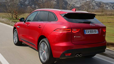 Jaguar F-Pace first drive - rear tracking 2