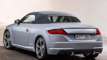 audi tt 20 years edition static rear roof up