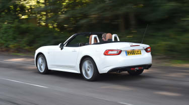 Fiat 124 Spider Moving Rear