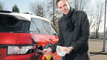 Range Rover Evoque fuel filler