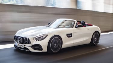 Mercedes-AMG GT C Roadster - white front tracking