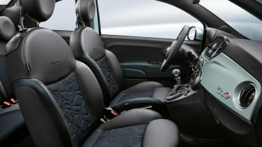Fiat 500 hybrid - front interior