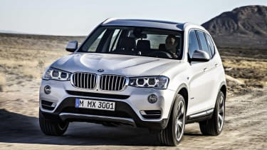 BMW X3 facelift front