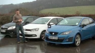 VW Polo GTI vs SEAT Ibiza Cupra and Skoda Fabia vRS