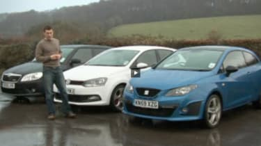 VW Polo GTI vs SEAT Ibiza Cupra and Skoda Fabia vRS