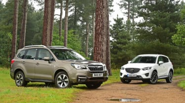 Subaru Forester vs Mazda CX-5 - header static