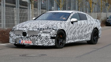 Mercedes-AMG GT four door spied front side