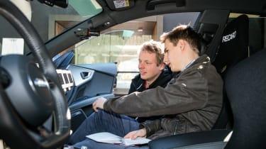 Project M feature - Markus Hoffman and Martin autonomous RS7
