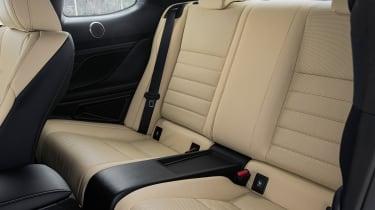 Lexus RC 300h F-Sport interior rear seats legroom