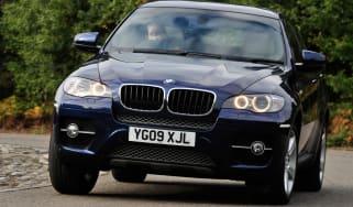 BMW X6 front cornering