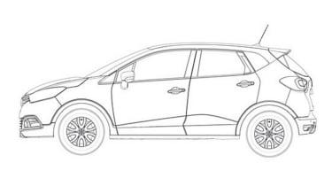 Renault Captur patent drawings side
