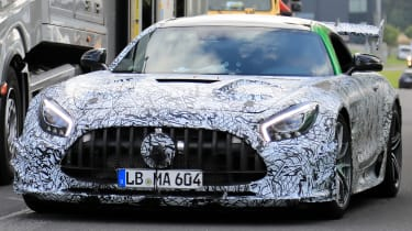 Mercedes AMG GT R Black Series - front tracking spy