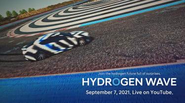 Hyundai hydrogen-powered sports saloon teaser