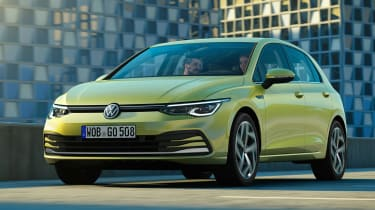 New Volkswagen Golf Mk8 leaked images - front