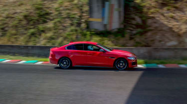 Jaguar XE on track