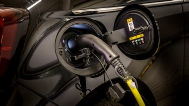 An official range of 199 miles is good for a city car, although the 30-mile boost in five minutes is sure to be a big draw. The 42kWh battery pack is located under the seats, and the charge socket on the offside of the car