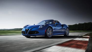 Alfa 4C Blue front