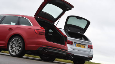 Audi A4 Avant vs BMW 3 Series Touring - boot open