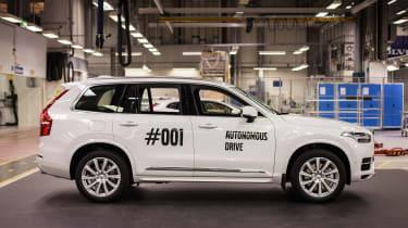 Autonomous Volvo XC90 test cars