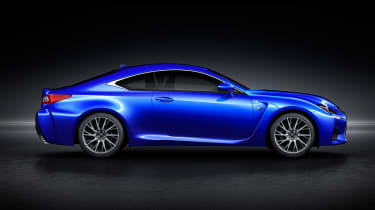 Lexus RC F V8 coupe side 2