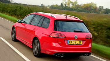 Volkswagen Golf R Estate rear tracking