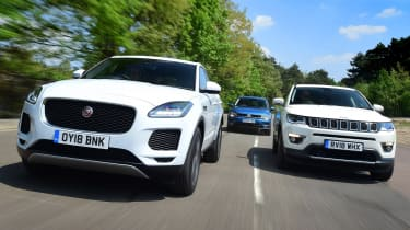 Jaguar E-Pace vs Volkswagen Tiguan vs Jeep Compass - header