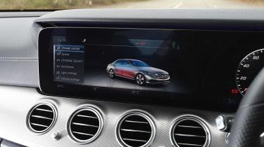 Mercedes E 350e - infotainment screen