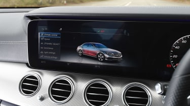 Mercedes E 350e - infotainment screen