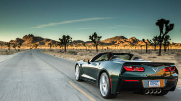 Chevrolet Corvette Stingray Convertible rear tracking
