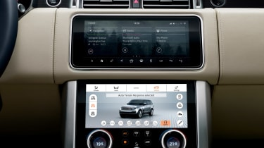 Range Rover review - screen
