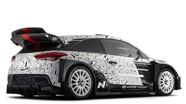 Hyundai i20 WRC car - rear quarter